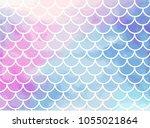 pink blue mermaid scales....   Shutterstock .eps vector #1055021864