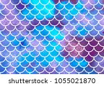 mermaid scales. watercolor fish ... | Shutterstock .eps vector #1055021870