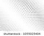 abstract halftone wave dotted... | Shutterstock .eps vector #1055025404