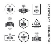 organic natural and healthy... | Shutterstock .eps vector #1055026529