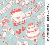 wedding pattern  vector...   Shutterstock .eps vector #1055027450