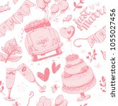 wedding pattern  vector... | Shutterstock .eps vector #1055027456