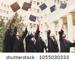 a group of multietnic students... | Shutterstock . vector #1055030333
