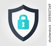 shield security icon. lock... | Shutterstock .eps vector #1055037269