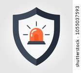 siren alarm icon vector | Shutterstock .eps vector #1055037593