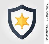 police officer badge icon | Shutterstock .eps vector #1055037599