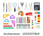 vector illustration. set of... | Shutterstock .eps vector #1055037869