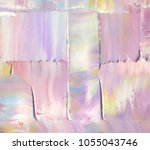 colorful abstract painting... | Shutterstock . vector #1055043746