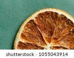 flat lay dried orange texture... | Shutterstock . vector #1055043914