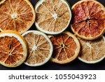 Flat Lay Dried Orange Row...