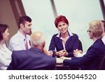 startup business people group... | Shutterstock . vector #1055044520