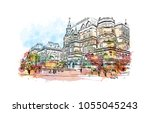 the moscow kremlin  usually... | Shutterstock .eps vector #1055045243