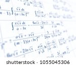 math concept   mathematical... | Shutterstock . vector #1055045306