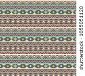 tribal  art pattern. ethnic... | Shutterstock .eps vector #1055051120