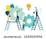 flat vector illustration ... | Shutterstock .eps vector #1055054996