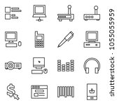 flat vector icon set   comments ... | Shutterstock .eps vector #1055055959