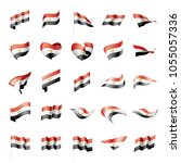 egypt flag  vector illustration ... | Shutterstock .eps vector #1055057336