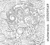 tracery seamless pattern.... | Shutterstock .eps vector #1055059169