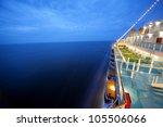 Cruise Ship Floats At Night ...