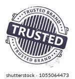 trusted brand stamp | Shutterstock .eps vector #1055064473