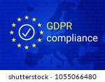 gdpr   general data protection... | Shutterstock .eps vector #1055066480