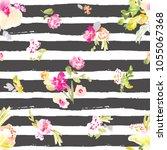 cute spring  seamless... | Shutterstock . vector #1055067368