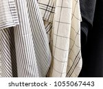 pile of handmade dull colored... | Shutterstock . vector #1055067443