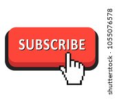 flat  red subscribe button...