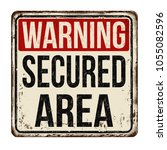 secured area vintage rusty... | Shutterstock .eps vector #1055082596