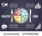 colorful infographic of various ... | Shutterstock .eps vector #1055083586