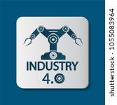 industry 4.0 icon technology... | Shutterstock .eps vector #1055083964