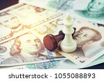 us and china finance tariff...   Shutterstock . vector #1055088893