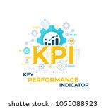 kpi  key performance indicator... | Shutterstock .eps vector #1055088923