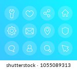 basic linear vector icons for...