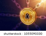 eos. crypto currency. block... | Shutterstock .eps vector #1055090330