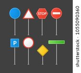 road signs isolated. vector... | Shutterstock .eps vector #1055090360