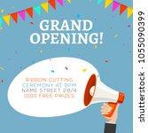 grand opening flyer banner... | Shutterstock .eps vector #1055090399