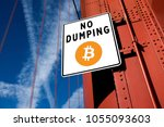 no dumping   crypto currency... | Shutterstock . vector #1055093603