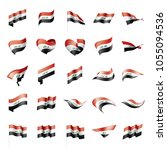 iraqi flag  vector illustration | Shutterstock .eps vector #1055094536