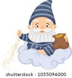 illustration of a senior man... | Shutterstock .eps vector #1055096000
