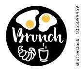 "hand lettering ""brunch"" with... | Shutterstock .eps vector #1055099459"
