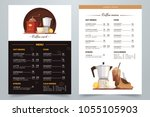 coffee menu design with text... | Shutterstock .eps vector #1055105903