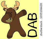 dab dabbing pose moose kid... | Shutterstock .eps vector #1055106620