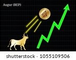 gold bull  throwing up augur ... | Shutterstock .eps vector #1055109506