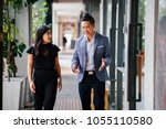 a portrait of two professional...   Shutterstock . vector #1055110580