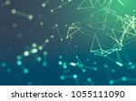 abstract polygonal space low... | Shutterstock . vector #1055111090
