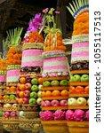 traditional balinese ceremonial ... | Shutterstock . vector #1055117513