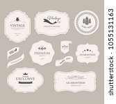 set of vintage banner and... | Shutterstock .eps vector #1055131163