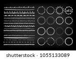 set of 16 seamless handdrawn... | Shutterstock .eps vector #1055133089