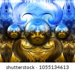 3d rendering combo artwork with ... | Shutterstock . vector #1055134613
